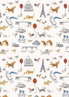 Dog Print Wallpaper cathy eom (cathyeom) on pinterest