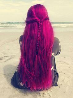 cabello de colores, colorful hair, fuchsia hair, pelo de colores, pelo fucsia, cabello fucsia