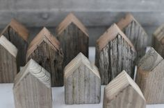 Christmas village made from cheap lumber. So easy with a chop saw.
