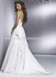 A-ligne fines bretelles les trains tribunal Taffeta Robe de mariée - €91.21 : WeddingDressesFR.com, Acheter des robes de mariée, robes de ma...
