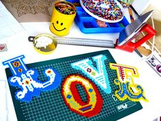 Letters hama beads