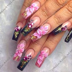 The 80 Trendy Nail Art Designs are so perfect for this season Hope they can inspire you and read the article to get the gallery. Fabulous Nails, Gorgeous Nails, Pretty Nails, 3d Nail Designs, Pretty Nail Designs, Fancy Nails, Bling Nails, Hot Nails, Hair And Nails