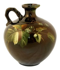 Owens Pottery Lightweight Berry And Leaves Jug Shape 758 (Bell)