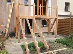 Erhöhte Terrasse Holz - Zimmerei Carsten Wesolowski Berlin