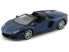 Maisto 1/24 Scale Lamborghini Aventador LP-700-4 Roadster Blue Diecast Car Model 31504 - Diecast Auto World