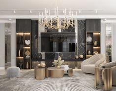 Home Design Decor, Modern House Design, Apartment Interior, Apartment Design, Wall Unit Designs, Living Room Tv Unit, Luxury Interior Design, Living Room Designs, Art Interiors