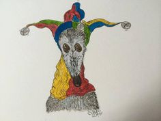 A4 Print Sir Bruce the Jester by NellieDoodles on Etsy