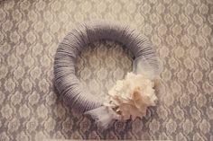 Gray Days are the Best a Vintage style yarn wreath by Murabelle, $34.00