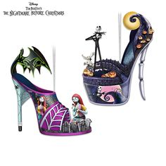 Disney Tim Burton's The Nightmare Before Christmas Shoe Ornament Collection Nightmare Before Christmas Ornaments, Nightmare Before Christmas Wedding, Funky Shoes, Crazy Shoes, Colar Diy, Ropa Shabby Chic, Christmas Shoes, Xmas, Christmas Gifts