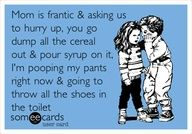 I'm sure all mamas will agree that this seems to happen everytime we are in a hurry:/