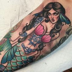Mermaid tattoo by Ly Aleister