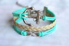 BraceletAnchor Bracelet / infinity Bracelet / by Especially2U, $5.99