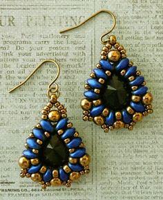 Linda's Crafty Inspirations: Marquesa Earrings - Metallic Suede Blue