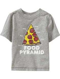 Shop fun graphic tees for your little guy at Old Navy. From various styles and designs, Old Navy is the only place you need to upgrade his wardrobe. Pizza Art, Cool Graphic Tees, Kids Education, My Children, Kids Learning, Toddler Boys, Old Navy, Awesome Food, D1