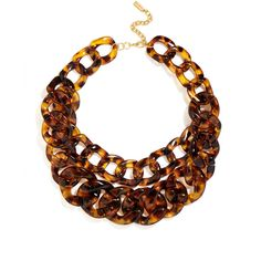BaubleBar Double Tortoise Link Collar ($38) ❤ liked on Polyvore featuring jewelry, necklaces, polish jewelry, tortoise necklace, tortoise jewelry, tortoiseshell jewelry and tortoiseshell necklace