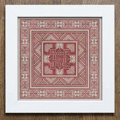 Valknut Pillow Pattern – a Scandinavian inspired cross stitch embroidery pattern