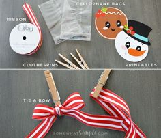 These Christmas Treat Bag Toppers can be used as gifts, party favors, place settings, bribes…. the list is endless.