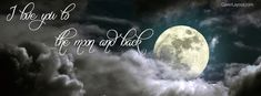 I Love You To The Moon And Back Facebook Cover coverlayout.com