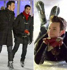 Glee's Kurt and Blaine Ice Skate In NYC for Christmas — Is It a Date? (PHOTOS)