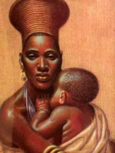Mother and Child by artist Vladimir Tretchikoff.