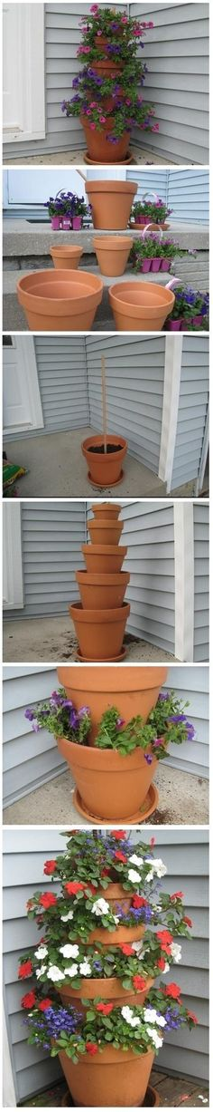 DIY Home and garden decor - potted flowers                                                                                                                                                                                 More