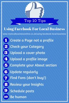 Are you still using a Facebook profile for promoting your business?   Read these 10 top tips for getting started with Facebook Pages and take advantage of the power of Local Business Page in search.