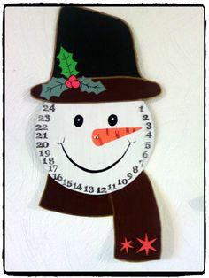 Bricolage de Noël : un calendrier de l'Avent bonhomme de neige – Mes humeurs…