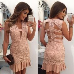 "7,658 Likes, 68 Comments - Blog Trend Alert (@arianecanovas) on Instagram: ""{Lace } By @desnude vestido de renda com decote nas costas!"""