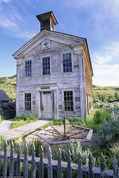 Schoolhouse and Masonic Lodge, built ca. 1874 in the mining of Bannack, Montana ... Now a ghost town.