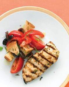 Buttermilk and Herb Marinated Chicken The buttermilk in this marinade makes boneless, skinless chicken breasts extra moist and tender. Chopped fresh rosemary adds fragrance and depth to the grilled chicken.