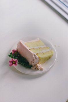 buttermilk cake with rhubarb frosting and cardamom cream | the vanilla bean blog @threadedbasil