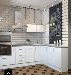 Светильники трубой на кухне