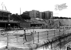 Black Rock, Brighton, The Open Air Baths from Francis Frith Brighton Sussex, Brighton And Hove, Black Rock, Local History, Historical Pictures, Old Postcards, Vintage Travel Posters, Back In The Day, Old Photos