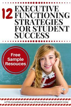 Learning Specialist and Teacher Materials - Good Sensory Learning: 12 Executive Functioning Strategies for Student Success Working Memory, Executive Functioning, Student Success, Student Life, Special Education Classroom, School Psychology, School Counseling, Social Skills, Ways To Lose Weight