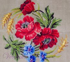 This Pin was discovered by Neş Cross Stitch Heart, Simple Cross Stitch, Cross Stitch Flowers, Cross Stitching, Cross Stitch Embroidery, Embroidery Patterns, Hand Embroidery, Easy Cross Stitch Patterns, Cross Stitch Designs