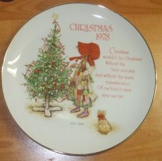 Holly Hobbie 1978 Christmas Plate Have This One!