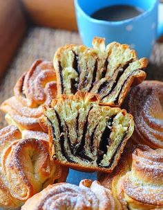 """chocolate """"roses"""" muffin oven-translated from Hungarian recipe Serbian Recipes, Hungarian Recipes, Greek Recipes, Raw Food Recipes, Dessert Recipes, Cooking Recipes, Tortellini, European Dishes, Sweet Pastries"""