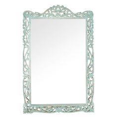 Espejo de mango esculpido azul 92x139 | Maisons du Monde