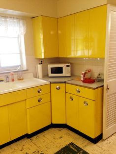 Original Metal Cabinets In A 1950s Ranch Now For St Louis Kitchen