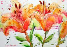 Nora MacPhail - Red Prairie Lillies