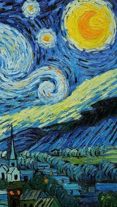▷ 1001 + amazingly cute backgrounds to grace your screen van gogh painting, cute wallpapers, starry nights Art Van, Van Gogh Art, Starry Night Wallpaper, Starry Night Art, Starry Nights, Vincent Van Gogh, Van Gogh Wallpaper, Painting Wallpaper, Blue Painting
