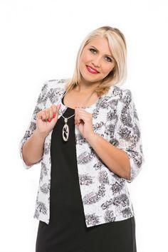 bielo-čierne sako pre moletky bez zapínania Spring Summer, Blouse, Women, Fashion, Moda, Fashion Styles, Blouses, Fashion Illustrations, Woman Shirt