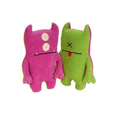 "Gotta love Uglydolls... another version I saw had kids drawing their ""creatures"" and then a manufacturer sends back dolls kinda like these..."
