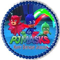 PJ MASKS 2 Edible Birthday Cake Topper OR Cupcake Topper, Decor - Edible Prints On Cake (Edible Cake &Cupcake Topper)