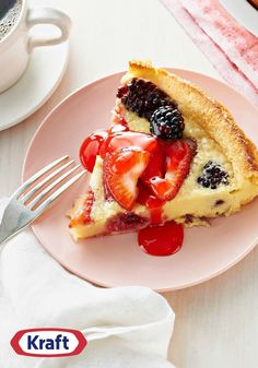 Fresh Berry Dutch Baby Pancake – Got some fresh strawberries and blackberries on hand? Use them to make this simple and delicious Fresh Berry Dutch Baby Pancake recipe!