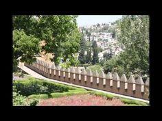 Альгамбра, сад в Испании.  слайд-шоу