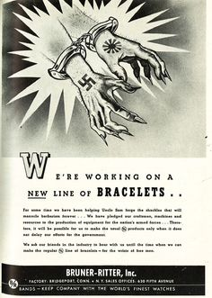 Propaganda Patriotic Jewelry Ads From 1942: We're working on a new king of bracelets! http://www.allthingsluxury.biz