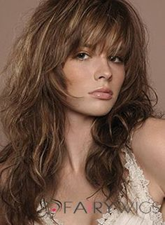 100% Human Hair Brown Wavy Medium Wigs 18 Inch Capless $232 fairy wigs available in blondes