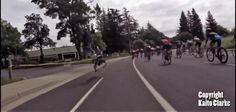 Cyclist in California race collides with out-of-control drone