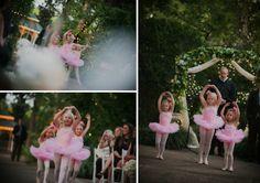 pink classic nashville wedding at river wood mansion, ballerina flower girls